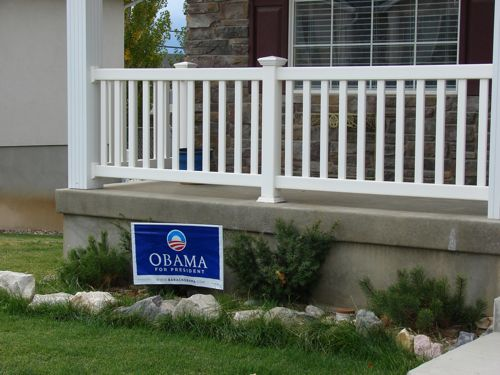 The Barack Obama sign in front of my Spanish Fork Utah house.
